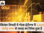 गोल्ड ईटीएफ में अक्टूबर में आया 384 करोड़ रुपए का निवेश, जुलाई के बाद से घटा इन्वेस्टमेंट|यूटिलिटी,Utility - Dainik Bhaskar