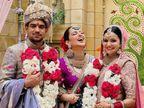 उदयपुर में रजवाड़ी थीम पर हुई शादी, ट्रेडिशनल ज्वेलरी में दिखीं कंगना; रिसेप्शन में किया डांस|राजस्थान,Rajasthan - Dainik Bhaskar