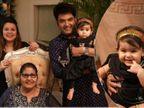 पंजाब से वापस आकर कपिल शर्मा ने परिवार के साथ मनाई दिवाली, ट्रेडिशनल अवतार में नजर आईं नन्ही बेटी अनायरा|टीवी,TV - Dainik Bhaskar