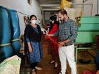 चावल के आटे में भूसी और कलर मिलाकर तैयार करते थे लाल मिर्च पाउडर और मसाले, जबलपुर में नकली मसाला फैक्ट्री का भंडाफोड़|जबलपुर,Jabalpur - Dainik Bhaskar