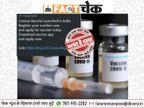 भारत की पहली कोरोना वैक्सीन लॉन्च, रजिस्ट्रेशन शुरू? जानें वायरल मैसेज का सच|फेक न्यूज़ एक्सपोज़,Fake News Expose - Dainik Bhaskar
