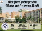 एम्स दिल्ली ने 214 पदों पर भर्ती के लिए बढ़ाई आवेदन की आखिरी तारीख, अब 1 दिसंबर तक ऑनलाइन अप्लाय कर सकते हैं कैंडिडेट्स|करिअर,Career - Dainik Bhaskar