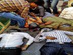 दो बाइकों की भिड़ंत में 2 युवकों की मौत, दुर्घटना में 4 घायल, 2 जयपुर रेफर|करौली,Karauli - Dainik Bhaskar
