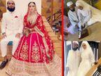 शादी के 2 दिन बाद लाल जोड़े में सना खान ने शेयर की पति अनस के साथ फोटो, नाम भी बदला|बॉलीवुड,Bollywood - Dainik Bhaskar