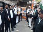 वाराणसी में 13 साल पहले हुए कचहरी ब्लास्ट की बरसी पर अधिवक्ताओं ने शहीदों कोश्रद्धांजलि दी|वाराणसी,Varanasi - Dainik Bhaskar