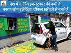 देश के 69 हजार पेट्रोल पंपों पर लगाए जाएंगे ई-व्हीकल चार्जिंग कियोस्क, केंद्रीय मंत्री गडकरी ने की घोषणा|यूटिलिटी,Utility - Dainik Bhaskar