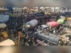 पंजाब और हरियाणा का अन्नदाता बैरिकेडिंग तोड़कर दिल्ली के दरवाजे पर पहुंचा|हरियाणा,Haryana - Dainik Bhaskar