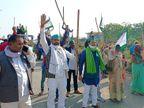 कृषि कानून के विरोध में सड़कों पर उतरी BKU; मुजफ्फरनगर से मेरठ कूच की मिली इजाजत, मेरठ में हाइवे पर खायी खिचड़ी उत्तरप्रदेश,Uttar Pradesh - Dainik Bhaskar