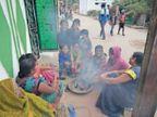 बारिश के बाद ठंड बढ़ी, दिन का पारा 26.2 पर, लोग अलाव तापते नजर आए|बिलासपुर,Bilaspur - Dainik Bhaskar