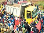 पंजाब के किसानों को रोकने के हरियाणा पुलिस के 2 दिन के इंतजाम 2 घंटे में ध्वस्त|अम्बाला,Ambala - Dainik Bhaskar