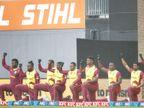 वेस्टइंडीज और न्यूजीलैंड के खिलाड़ियों ने मैच से पहले घुटनों पर बैठकर अभियान का समर्थन किया|क्रिकेट,Cricket - Dainik Bhaskar