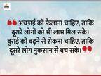 अच्छाई फैलनी चाहिए और बुराई को एक ही जगह समेट देना चाहिए, तभी समाज का भला होता है|धर्म,Dharm - Dainik Bhaskar