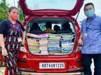 पति-पत्नी मिलकर गरीब बच्चों को 10 रु में ट्यूशन पढ़ाते हैं, महिलाओं को फ्री में सैनेटरी पैड बांटते हैं|DB ओरिजिनल,DB Original - Dainik Bhaskar