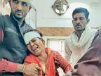 जेसीबी ने बाइक को मारी टक्कर पति की मौत, पत्नी घायल; नेशनल हाइवे पर दोपहर में पिपरई गांव के पास हुआ हादसा|मुरैना,Morena - Dainik Bhaskar