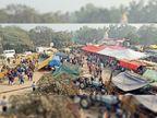 100 मीटर के दायरे में सिमटी फोर्स, कुंडली और सिंघु दोनों ही तरफ किसान धरने पर, बीच में फोर्स, हरियाणा पुलिस ने दिल्ली के साथ लगती सीमा पर शुरू की घोड़ा गश्त|राई (सोनीपत),Rai (Sonipat) - Dainik Bhaskar