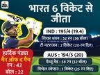 इंडिया लगातार 9 मैच जीतने वाली चौथी टीम, ऑस्ट्रेलिया में दूसरा सबसे बड़ा टारगेट चेज किया क्रिकेट,Cricket - Dainik Bhaskar