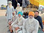 देश की सीमा से लगे गांवों के 1000 किसान भी 20-22 घंटे की यात्रा कर कुंडली बॉर्डर पर धरना देने पहुंचे|देश,National - Dainik Bhaskar