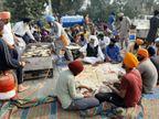 दिल्ली में किसान आंदोलन- कहीं रोटी पक रही, कहीं चाय-दूध उबल रहा, पंगत में बैठे लोग ले रहे प्रसाद|हरियाणा,Haryana - Dainik Bhaskar