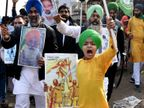 किसानों ने भैंस के आगे बीन बजाई, टॉवर पर PM का पुतला टांगा ताकि सरकार को प्रदर्शन नजर आए|देश,National - Dainik Bhaskar