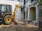 प्रयागराज में हिस्ट्रीशीटरों के खिलाफ चला PDA का बुलडोजर, आलीशान मकानों को ध्वस्त किया गया इलाहाबाद,Allahabad - Dainik Bhaskar