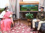 राज्यपाल से प्रभारी DGP ने की मुलाकात, द्रौपदी मुर्मू ने दुमका गैंगरेप के आरोपियों को जल्द गिरफ्तार करने का दिया निर्देश|रांची,Ranchi - Dainik Bhaskar