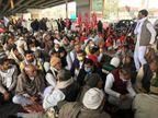 अनशन पर बैठे पानीपत के किसान, रागनी गाकर किया कृषि कानूनों पर कटाक्ष|पानीपत,Panipat - Dainik Bhaskar