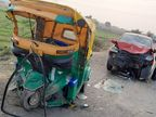 अहमदाबाद के धोलका-बगोदरा हाईवे पर कार-ऑटो की टक्कर में एक बच्चे समेत 4 की मौत, दो गंभीर रूप से घायल|गुजरात,Gujarat - Dainik Bhaskar