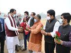 वाराणसी पहुंचे उप-मुख्यमंत्री केशव प्रसाद मौर्या का बयान, किसान बताये कानून के किस पार्ट पर उनको आपत्ति है; विपक्ष का कंधा न बने|वाराणसी,Varanasi - Dainik Bhaskar