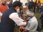 बहराइच में UP के मंत्री अनिल राजभर बोले - किसानों का आंदोलन शाहीन बाग पार्ट-2, सरकार नहीं करती परवाह|गोरखपुर,Gorakhpur - Dainik Bhaskar
