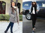 तेज ठंड में प्रियंका की तरह जैकेट के साथ पहनें ब्लैक स्कार्फ, कियारा की तरह वुलन स्कार्फ से मिलेगा शानदार लुक|लाइफस्टाइल,Lifestyle - Dainik Bhaskar