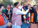 भाजपा के राष्ट्रीय प्रवक्ता राज्यवर्द्धन राठौड़ ने किसानों के आंदोलन को बताया 32 इंची|अलवर,Alwar - Dainik Bhaskar