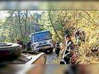 पास देते एचआरटीसी बस सड़क से हुई बाहर ड्राइवर ने हैंडब्रेक लगाकर बड़ा हादसा बचाया शिमला,Shimla - Dainik Bhaskar