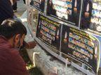 पंजाब यूनिवर्सिटी के स्टूडेंट ने किसान आंदोलनदौरान शहीद हुए लोगों को माेमबत्ती जलाकर याद किया|चंडीगढ़,Chandigarh - Dainik Bhaskar