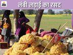 किसानों ने हाईवे पर सवा किमी तक टेंट लगाए, पानी गर्म करने से लेकर रोटी बनाने तक की मशीनें लगीं|अलवर,Alwar - Dainik Bhaskar