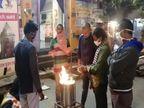 छत्तीसगढ़ के शहरों में गोबर के कंडे से जलेगा सरकारी अलाव, रायपुर में तो शुरू भी हो गया छत्तीसगढ़,Chhattisgarh - Dainik Bhaskar