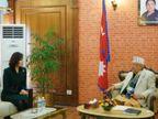 चीनी राजदूत ने राष्ट्रपति के बाद कई नेताओं से मुलाकात की, प्रधानमंत्री ओली से भी मिलेंगी विदेश,International - Dainik Bhaskar