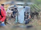 ट्रक को साइड देते हुए कार गड्ढे में गिरी, मौत|कांकेर,Kanker - Dainik Bhaskar