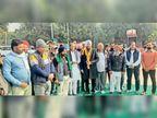 किसान आंदोलन में पहुंचे विधायक प्रदीप चौधरी ने कहा-केंद्र सरकार जिद्द छोड़ वापस करे बिल|पिंजौर,Pinjore - Dainik Bhaskar