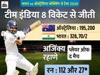 सीरीज 1-1 से बराबर; ऑस्ट्रेलिया के खिलाफ टीम इंडिया 6 साल से बॉक्सिंग-डे टेस्ट नहीं हारी|क्रिकेट,Cricket - Dainik Bhaskar