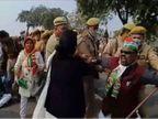 गिरफ्तारी की सूचना से कांग्रेस प्रदेश अध्यक्ष लल्लू ने बांदा दौरा रद्द किया; प्रदर्शन करने पर कई गिरफ्तार|झांसी,Jhansi - Dainik Bhaskar