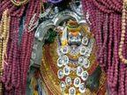 सवा लााख रुद्राक्ष की मालाओं से किया गया श्री काल भैरव बाबा का श्रृंगार, कोरोना से बचने की कामना|वाराणसी,Varanasi - Dainik Bhaskar