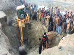 आगरा में तालाब की खुदाई के दौरान मिट्टी धंसने से आठ बच्चे दबे, तीन ने दम तोड़ा|आगरा,Agra - Dainik Bhaskar