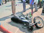 दो जगह हादसे में दो बाइक सवार की मौत, एक में बोलेरो ने, तो दूसरे में लोडिंग वाहन मारी टक्कर|जबलपुर,Jabalpur - Dainik Bhaskar