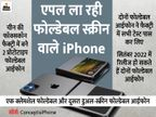 चीन की फॉक्सकॉन फैक्ट्री में दो प्रोटोटाइप फोल्डेबल आईफोन तैयार, रिपोर्ट में दावा- दोनों की सफल टेस्टिंग हुई|टेक & ऑटो,Tech & Auto - Dainik Bhaskar