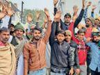 नाबालिग से दुष्कर्म के मामले में कार्रवाई न होने पर ग्रामीणों ने बस स्टैंड पर लगाया 2 घंटे जाम बाघोली,Bagholi - Dainik Bhaskar
