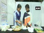 सैनिटरी नैपकिन से होने वाले कचरे की समस्या से निपटने के लिए तेलंगाना के सरकारी स्कूल की दो स्टूडेंट ने बनाया 'जीरो वेस्ट' सैनिटरी नैपकिन|करिअर,Career - Dainik Bhaskar