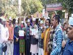 वाराणसी में जिला मुख्यालय पर आम आदमी पार्टी का प्रदर्शन, दोषियों कोफांसी की सजा देने की मांग|वाराणसी,Varanasi - Dainik Bhaskar