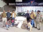 कार में ले जा रहे थे 120 लीटर महुआ शराब, चार पकड़े गए|महासमुंद,Mahasamund - Dainik Bhaskar