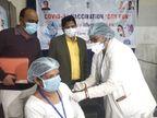 उदयपुर में वैक्सीनेशन का ड्राई रन, 3 केंद्रों पर 75 हेल्थ वर्कर्स पर हुआ रिहर्सल; अब वैक्सीन का इंतजार उदयपुर,Udaipur - Dainik Bhaskar