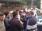 अलवर में सीसीटीवी फुटेज में एक्सीडेंट से मौत, पीहर पक्ष ने दर्ज कराया हत्या का केस|अलवर,Alwar - Dainik Bhaskar